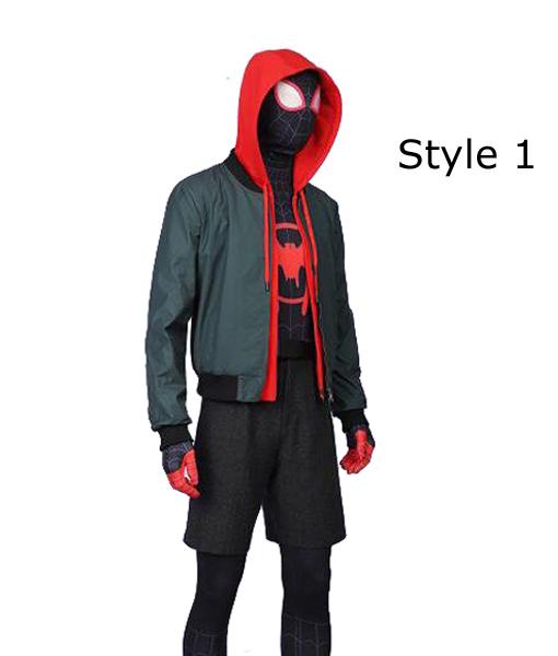 Mens Miles Morales Spider-Man Into the Spider-Verse Hoodie Sweatshirt Jacket US