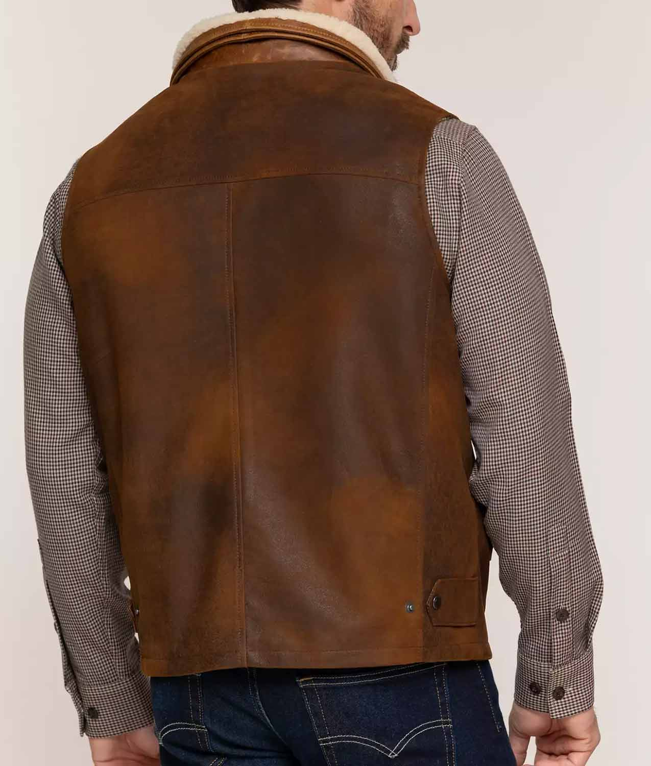 Mens Lambskin Leather Vest