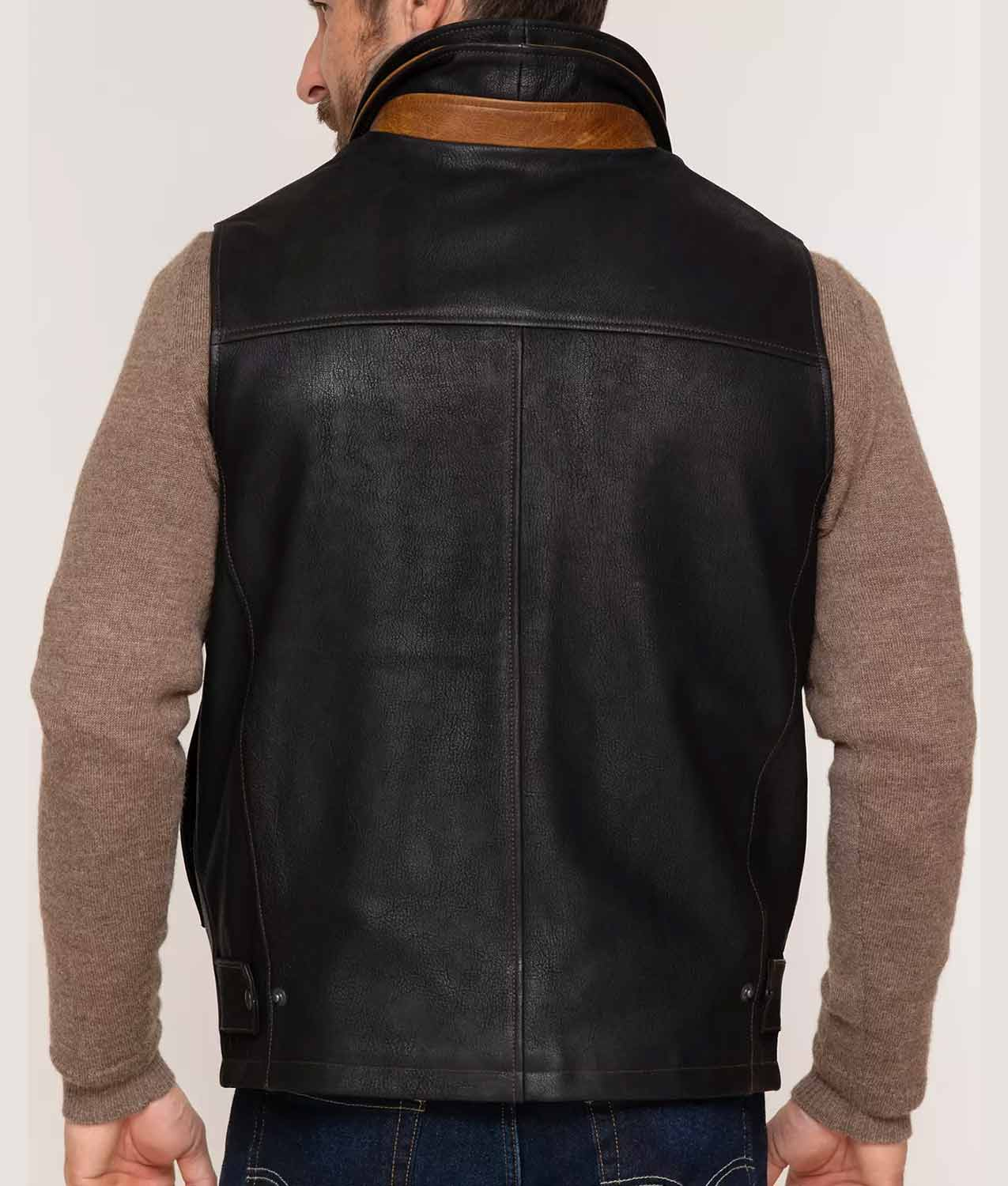 Mens Goatskin Leather Vest