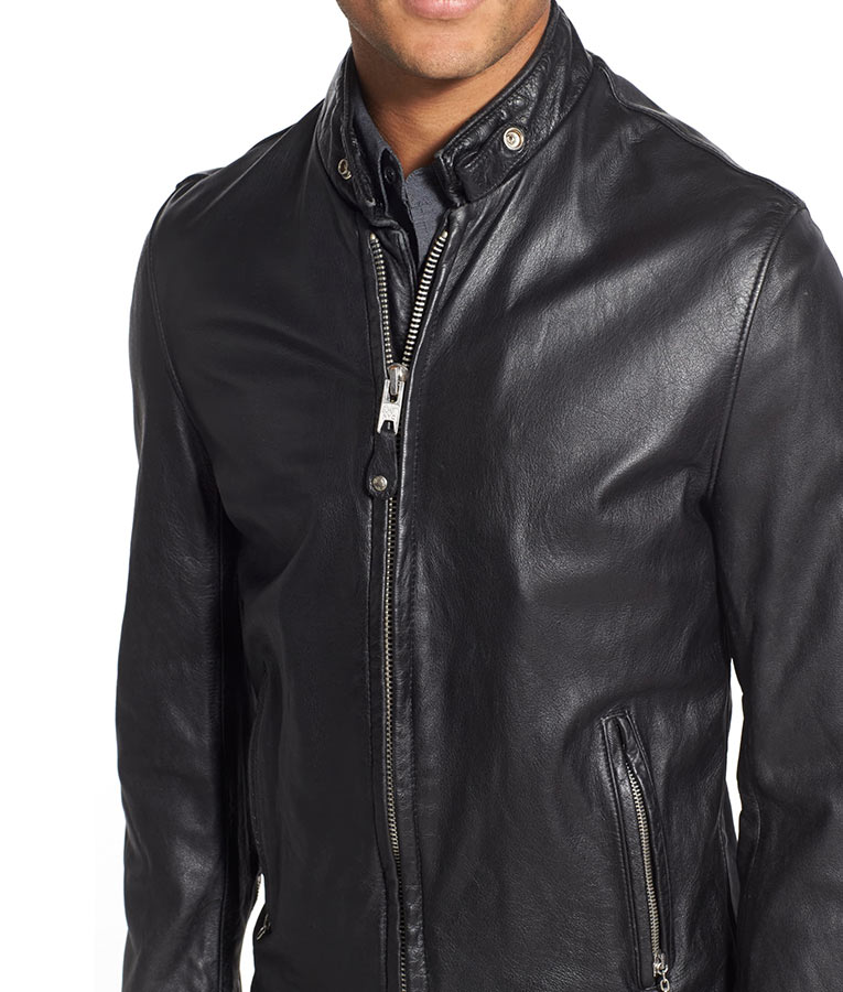 Mens Vintaged Black Cafe Racer Jacket