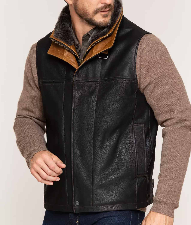 Mens Goatskin Leather Vest