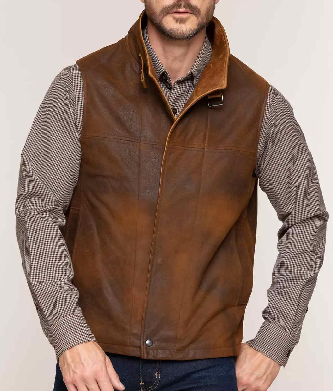 Mens Lambskin Leather Vest