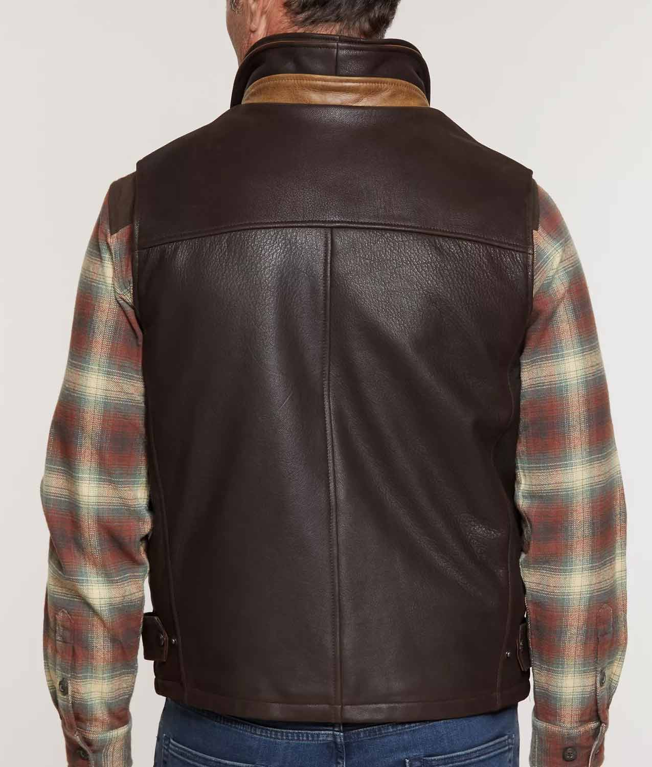 Mens Lamskin Leather Vest