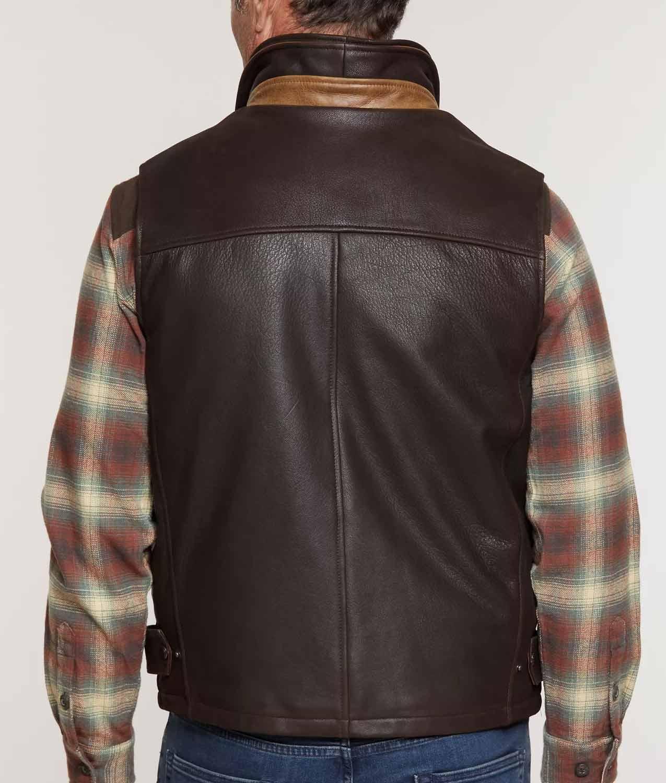 Mens Lamskin Leather Vest