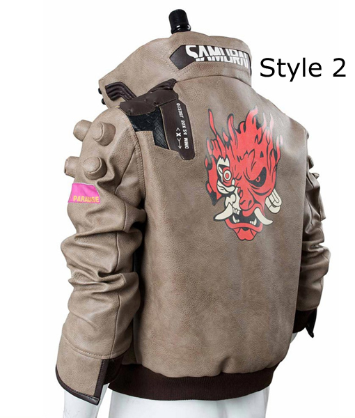 Samurai V Bomber Leather Cyberpunk 2077 Jacket