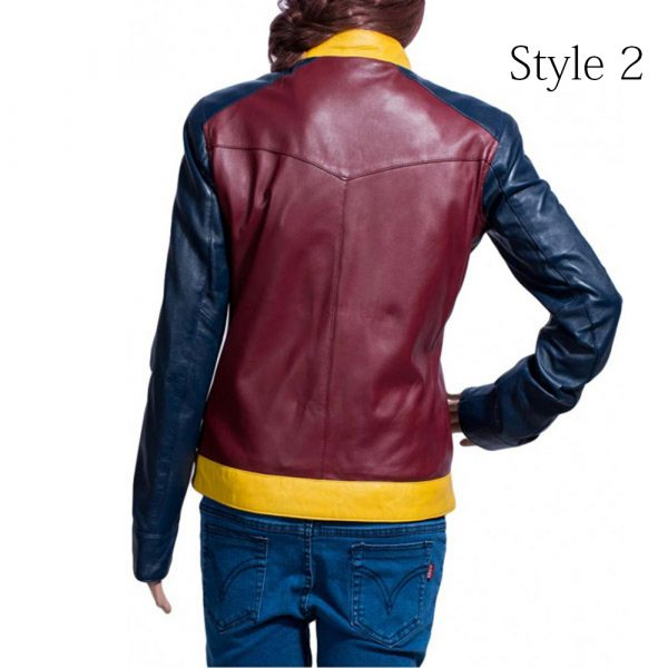 Wonder Woman Casual Leather Jacket back
