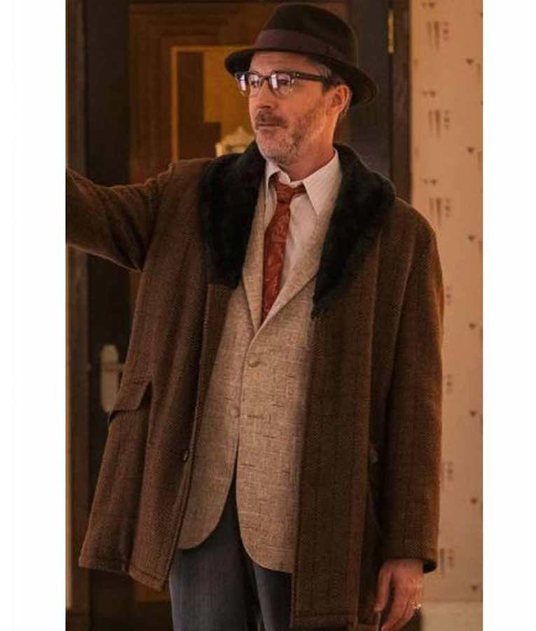 Aidan Gillen Project Blue Book S02 Dr. J. Allen Hynek Brown Coat