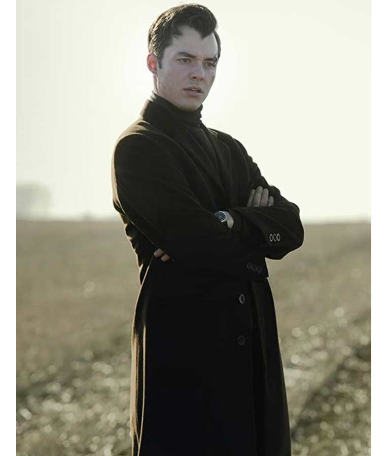 Jack Bannon Pennyworth Alfred Black Trench Coat