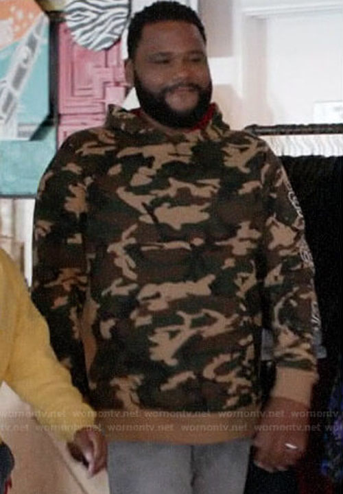 Anthony Anderson Black-ish Camo Hoodie