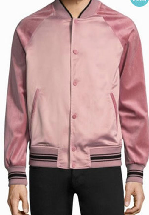Andre 'Dre' Johnson TV Series Black-ish Pink Varsity Jacket
