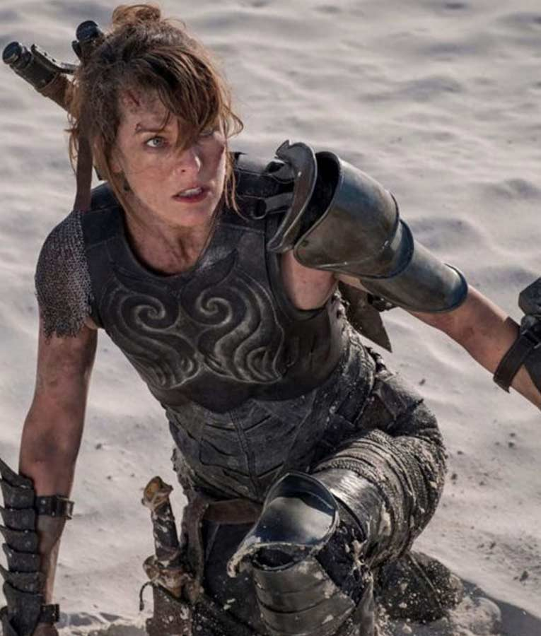 Monster Hunter Milla Jovovich Black Leather Artemis Vest