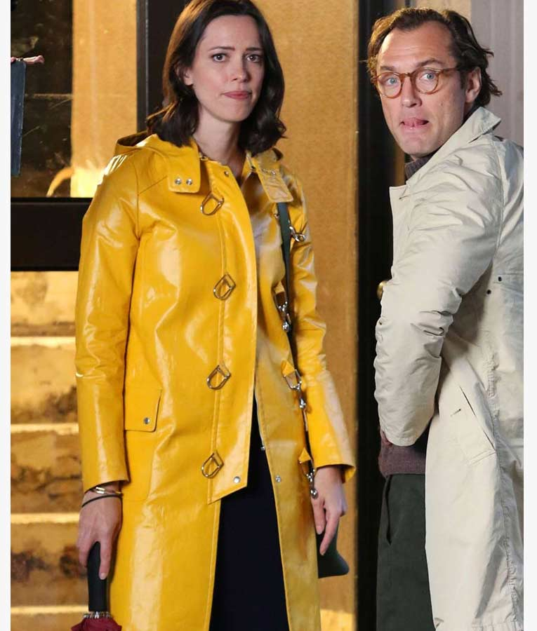 Ashleigh A Rainy Day In New York Yellow Coat