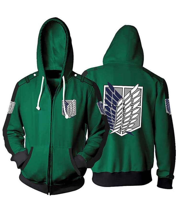 Attack On Titan Hoodie Jacket For Men's and Women's