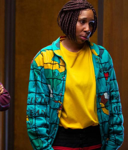 Lena Waithe Bad Hair Brook-Lynne Printed Bomber Jacket