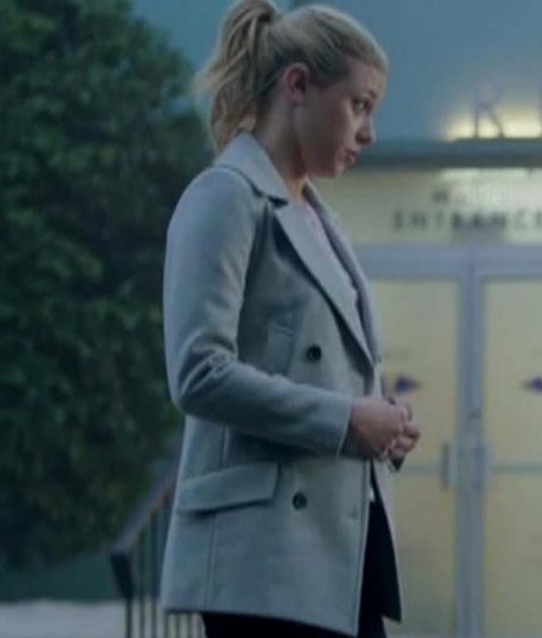 Riverdale S02 Betty's Cooper Grey Double-Breasted Coat