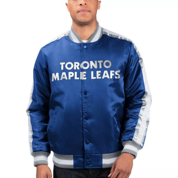 Toronto Maple Leafs Blue Varsity Jacket