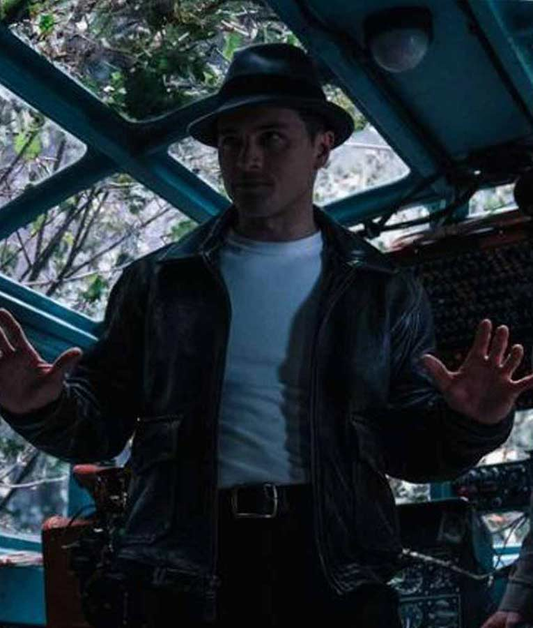 Michael Malarkey Project Blue Book S02 Captain Leather Jacket