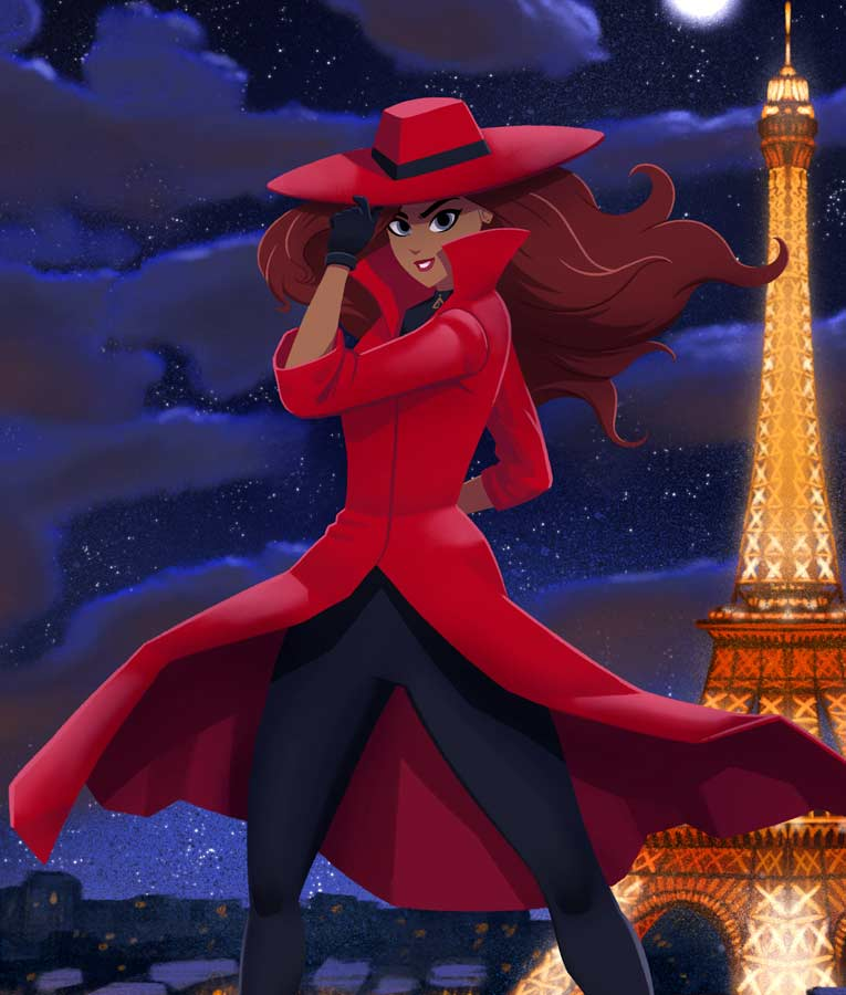 Red Trench Carmen Sandiego Season 03 Coat