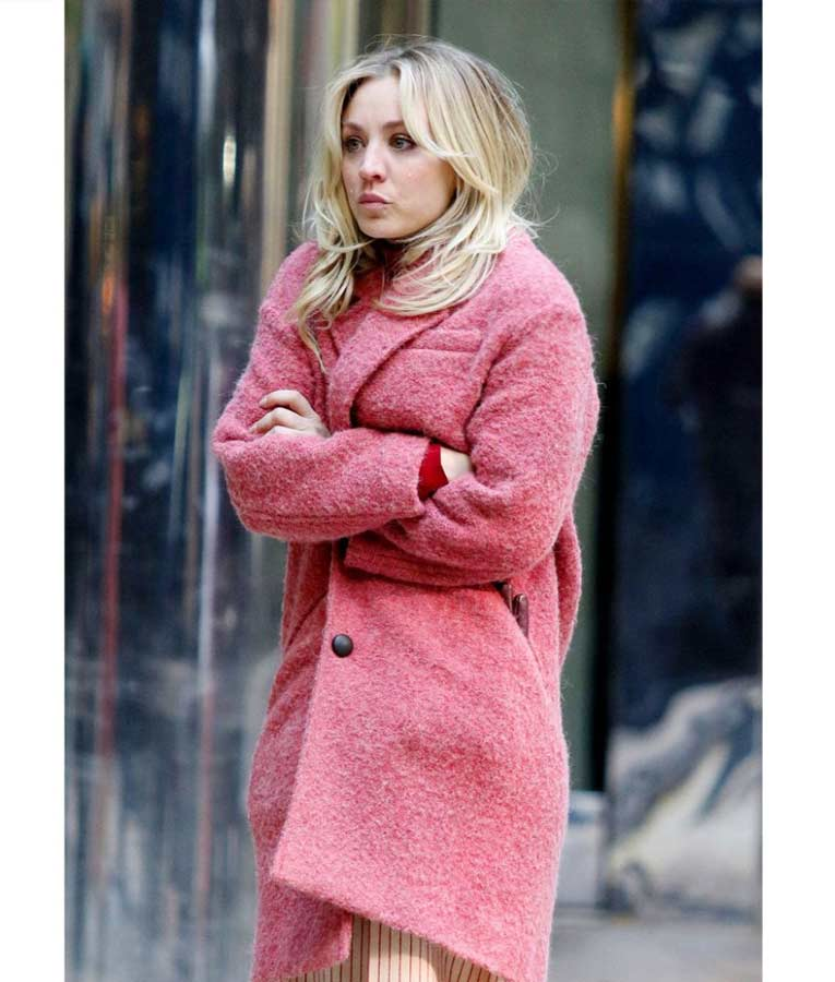The Flight Attendant Cassie (Kaley Cuoco) Pink Trench Coat