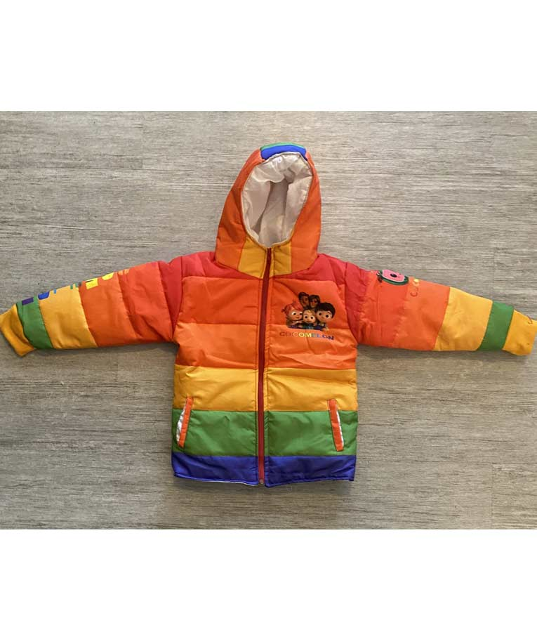 Cocomelon Puffer Hooded Jacket