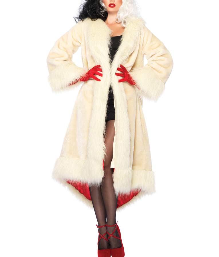 Cruella Deville Fur Long Coat