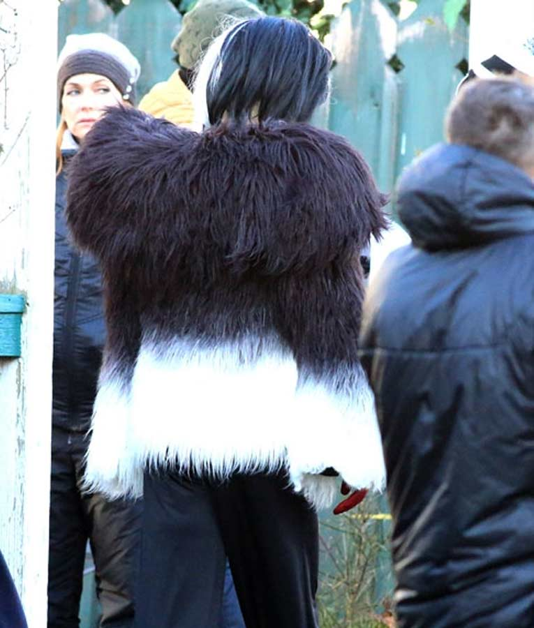 Cruella Deville Once Upon a Time White and Black Fur Jacket
