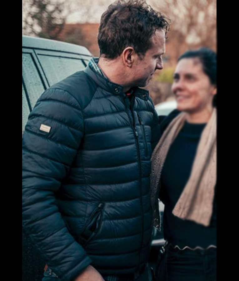 Rafe Spall The Salisbury Poisonings Puffer Jacket