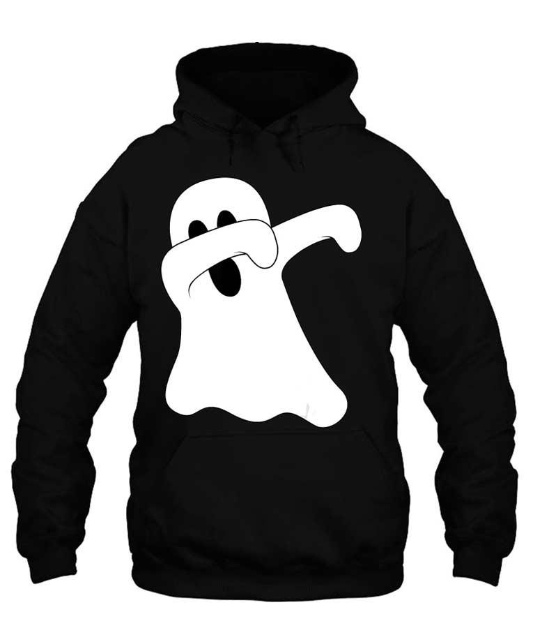 Dab Dance Spooky Unisex Dabbing Ghost Black Hoodie