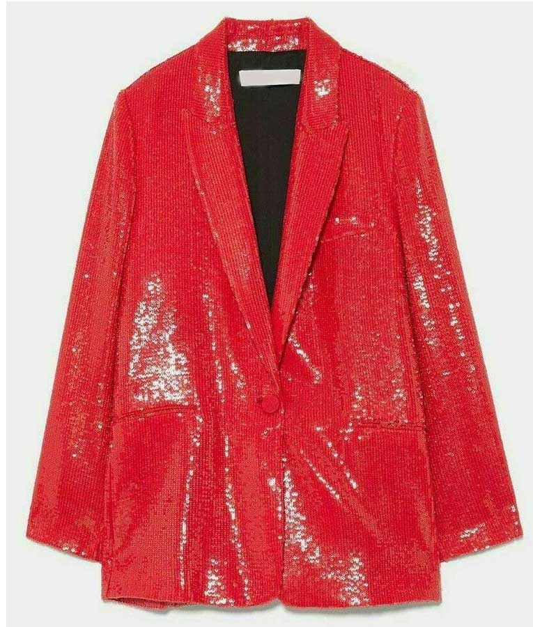 Emily Copper Red Blazer