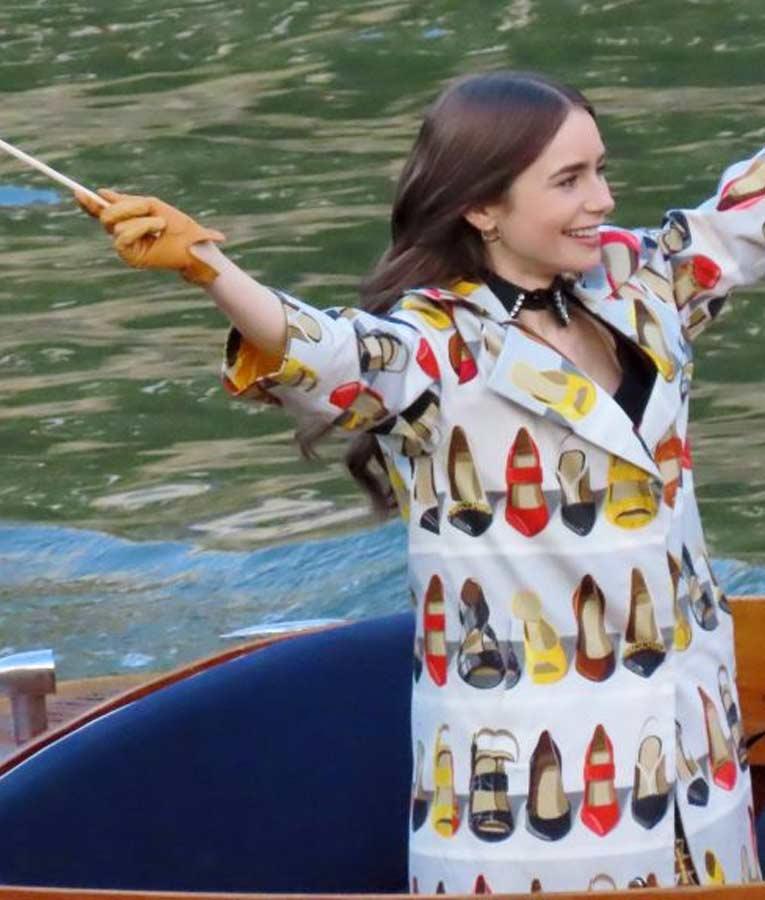 Emily in Paris Lily Collins Coat
