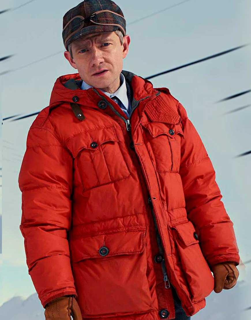 Martin Freeman Fargo Season 04 Lester Nygaard Parachute Jacket