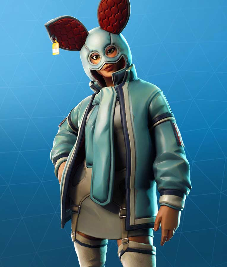 Fortnite Flapjackie Animal Bunny Hooded Leather Jacket