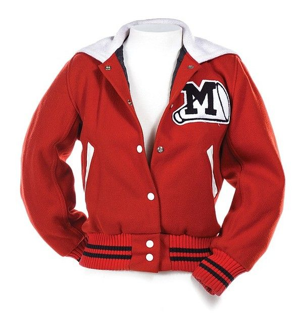Cheerleading Red Letterman Glee Cheerios Bomber Jacket
