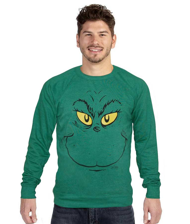 Grinch Ugly Face Crewneck Sweatshirt