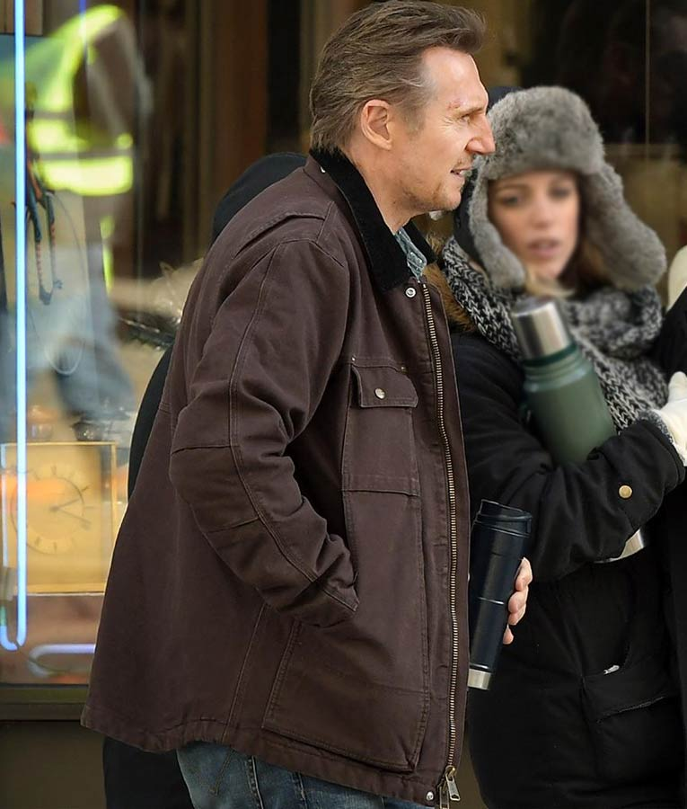 Liam Neeson Brown Honest Thief Tom Cotton Jacket