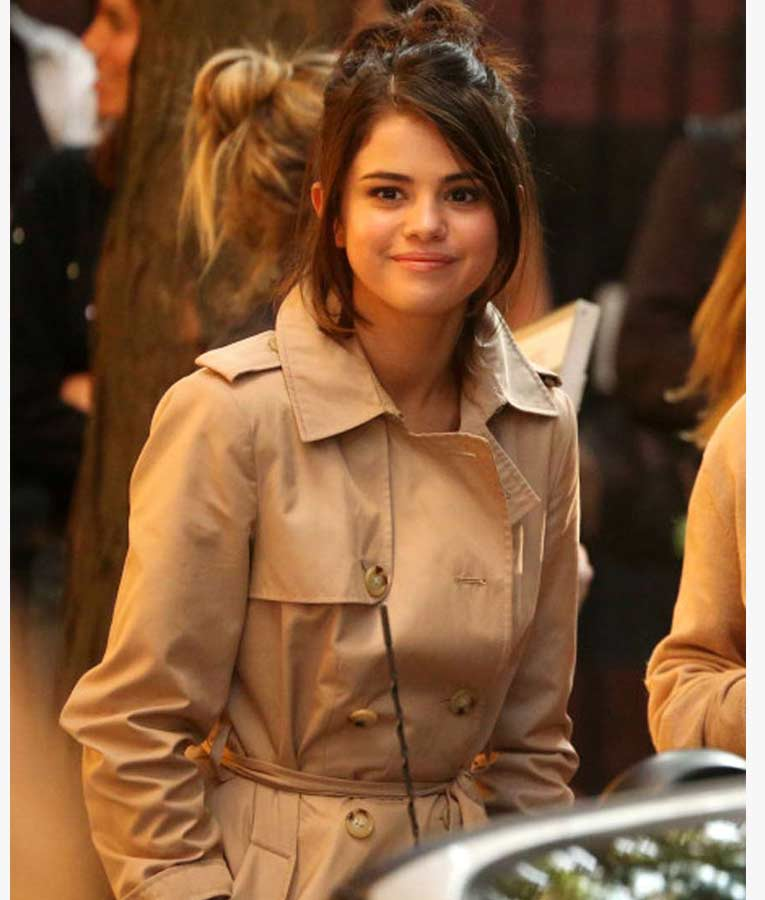 Selena Gomez A Rainy Day In New York Chan Cotton Coat