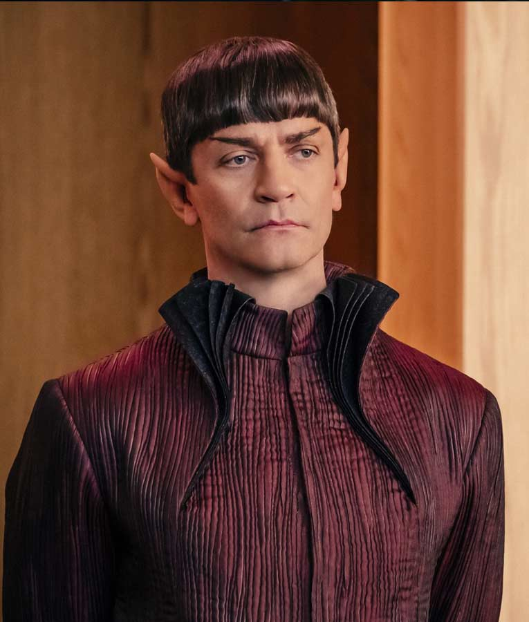 Star Trek Discovery James Frain Maroon Gown Style Sarek Long Coat