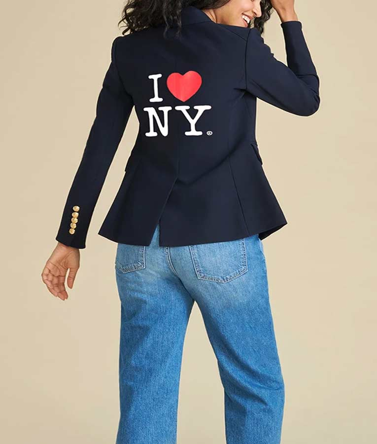 I Heart NY Jenna Bush Hager's Navy Blue Double Breasted Blazer
