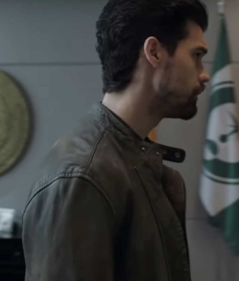 Jim Holden The Expanse Season 04 Steven Strait Brown Leather Jacket