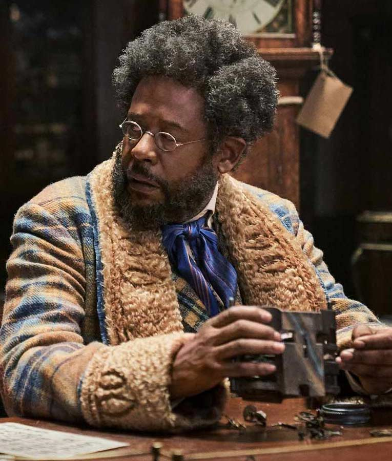 Jingle Jangle A Christmas Journey Forest Whitaker Plaid Shearling Long Coat