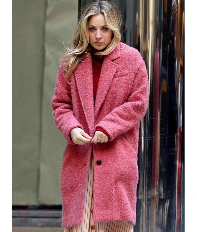 Cassie The Flight Attendant Kaley Cuoco Pink Trench Coat