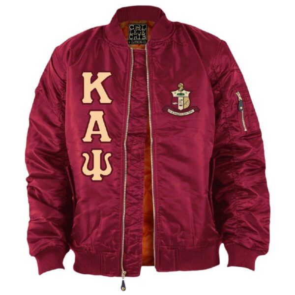 Kappa Alpha Red Satin Psi Baseball Jacket