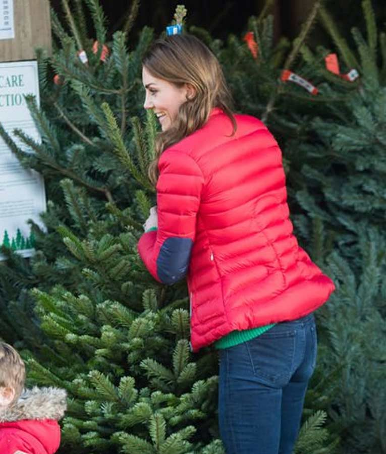 Kate Middleton Red Puffer Jacket