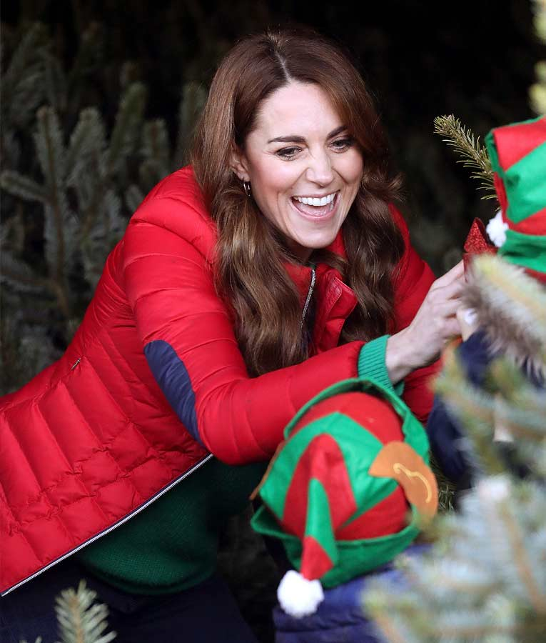 Kate Middleton Red Puffer