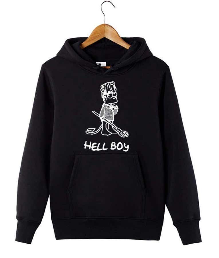 Lil Peep Hellboy Grey Hoodie
