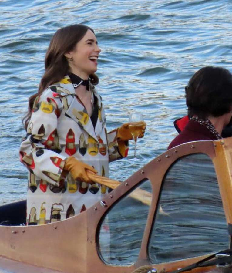 Lily Collins Emily in Paris Season 1 Coat