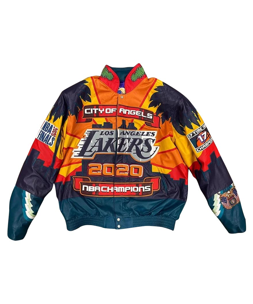 NBA Los Angeles Lakers 2000 Championship Jeff Hamilton Leather Jacket