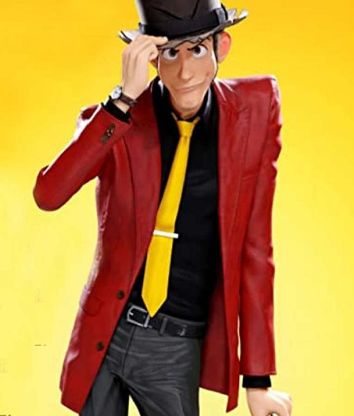 Lupin III The First Arsene Lupin III Red Leather Blazer