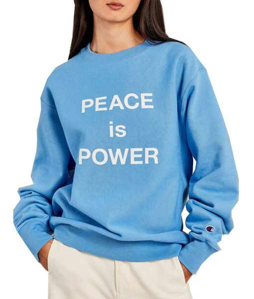 PEACE Is POWER Crewneck Unisex Sweatshirt