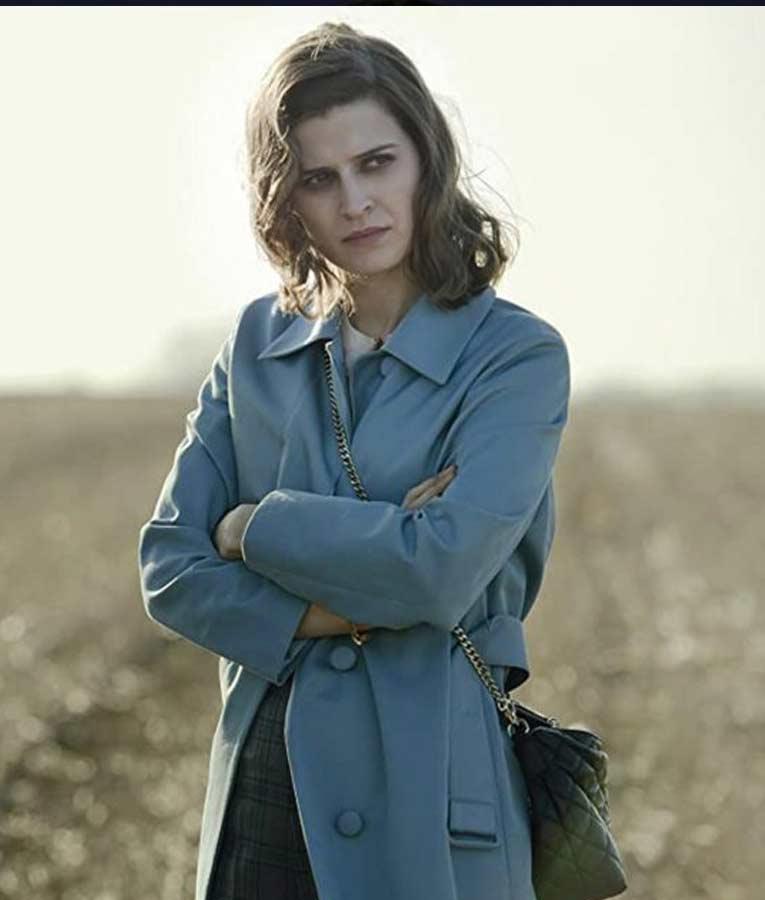 Martha Kane Pennyworth Emma Paetz Blue Trench Coat